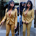 Christina Milan steps out braaless in a suit