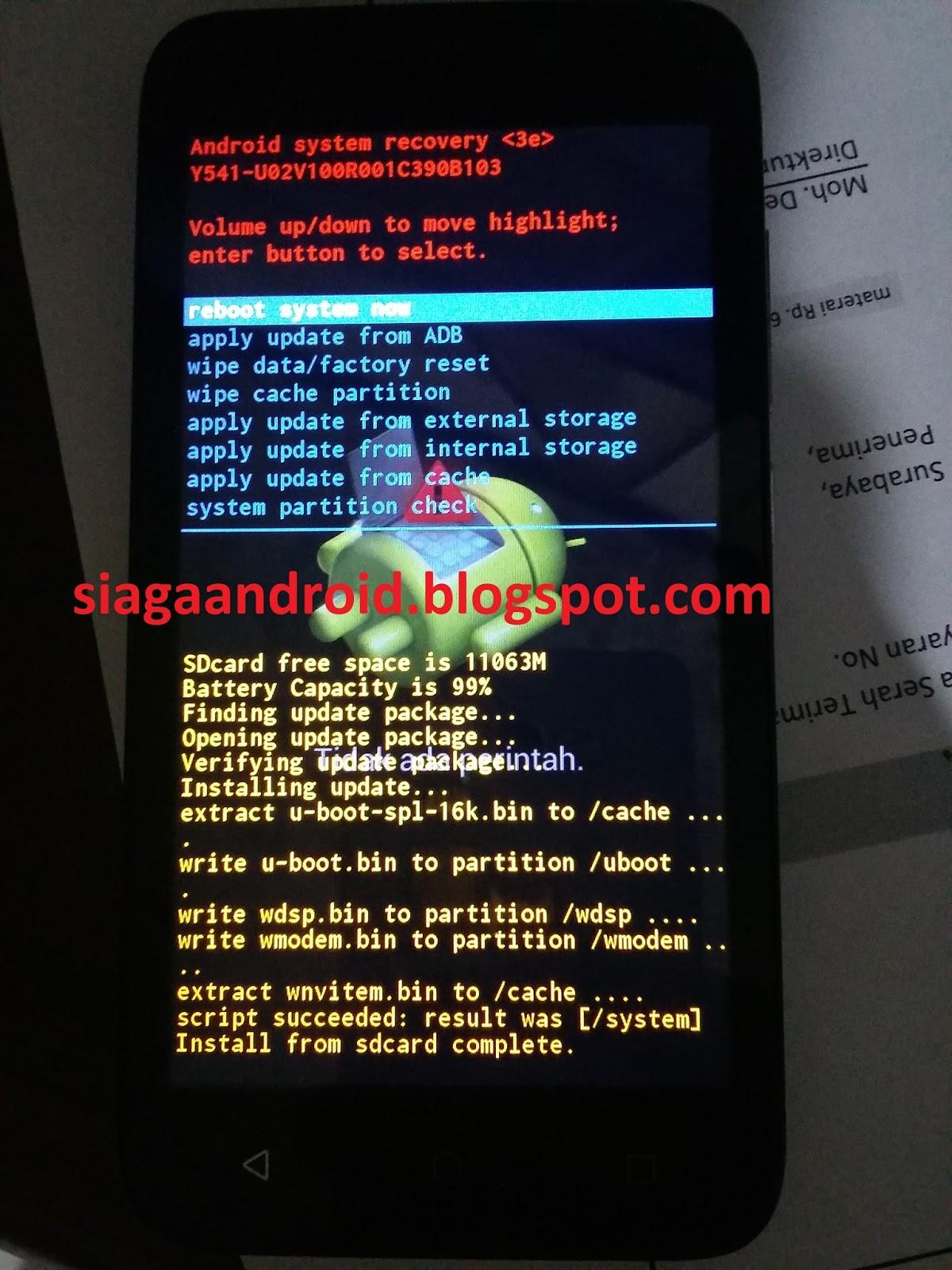 1 Download dan Extrack Stock Rom Huawei Ascend Y5 Y541 U02 Didalamnya sebenarnya sudah ada cara flashing via microSD tapi dalam bahasa orang yang