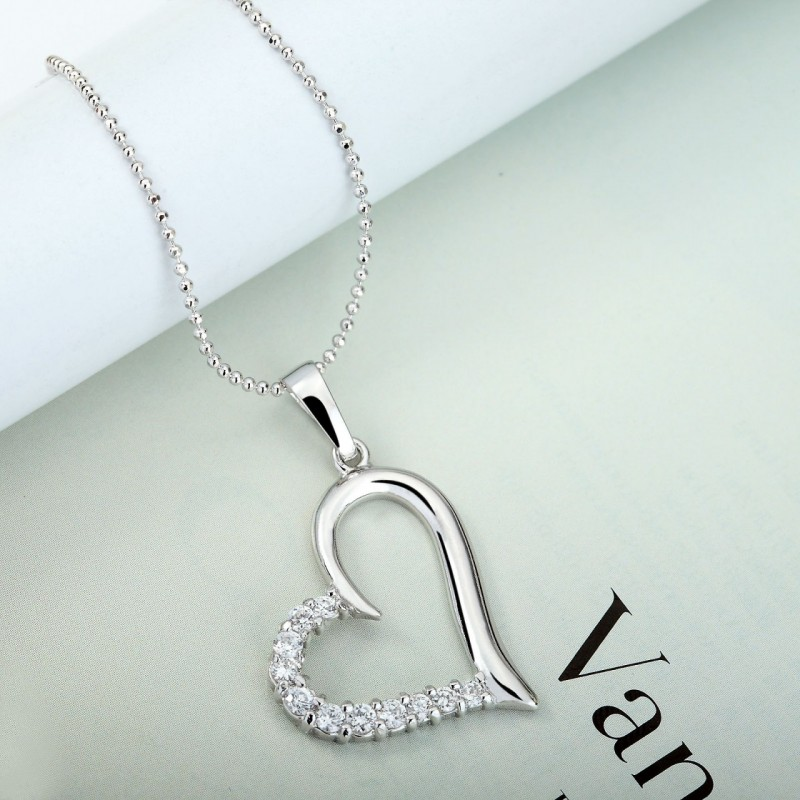 okajewelry show cz heart pendant necklace for mother 39 s day. Black Bedroom Furniture Sets. Home Design Ideas