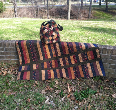 Mondo Bag and Jelly Roll Strip Quilt