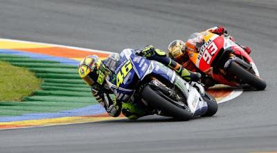 [Sports] Marquez: Rossi Tendang Setang dan Rem Motor Saya!