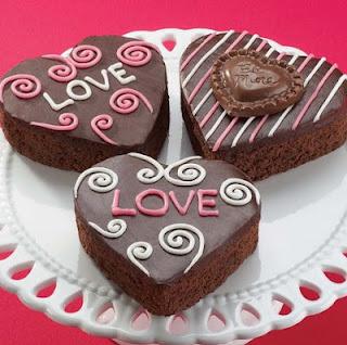 cara membuat brownies valentine
