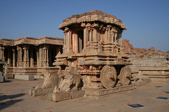 The stone Chariot,Hampi, Karnataka, India,