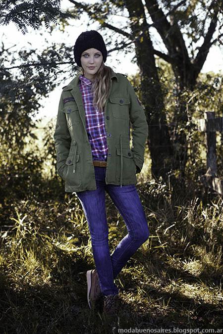 Moda camperas y sacos de mujer Cook invierno 2013.