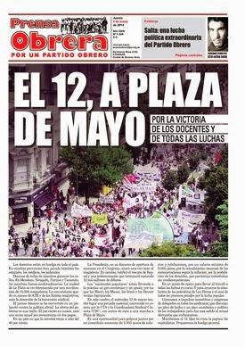 Ya salio Prensa Obrera Nº 1304