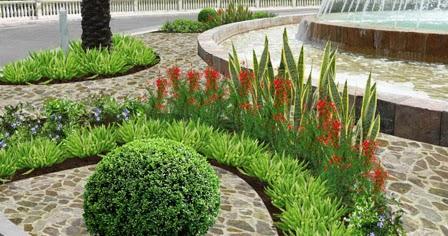 Dise o de varias areas verdes en el hotel iberostar for Diseno de jardines y exteriores 3d