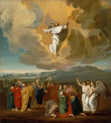 """Jesus ascending to heaven"" by John Singleton Copley - abcgallery.com. Licensed under Public Domain via Wikimedia Commons - http://commons.wikimedia.org/wiki/File:Jesus_ascending_to_heaven.jpg#/media/File:Jesus_ascending_to_heaven.jpg"