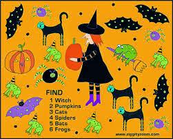 Halloween Printable Word Search For Kids 4