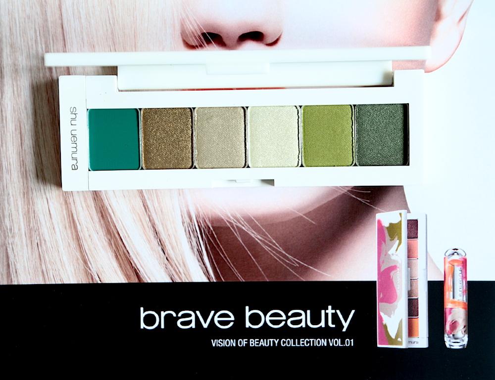 shu uemura brave beauty maquillage automne 2014 green palette swatches avis test