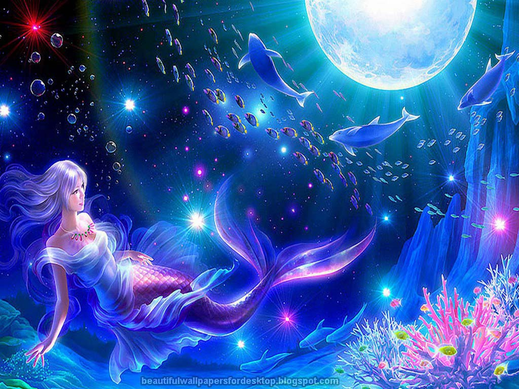 wallpaper beautiful mermaid pictures - photo #2