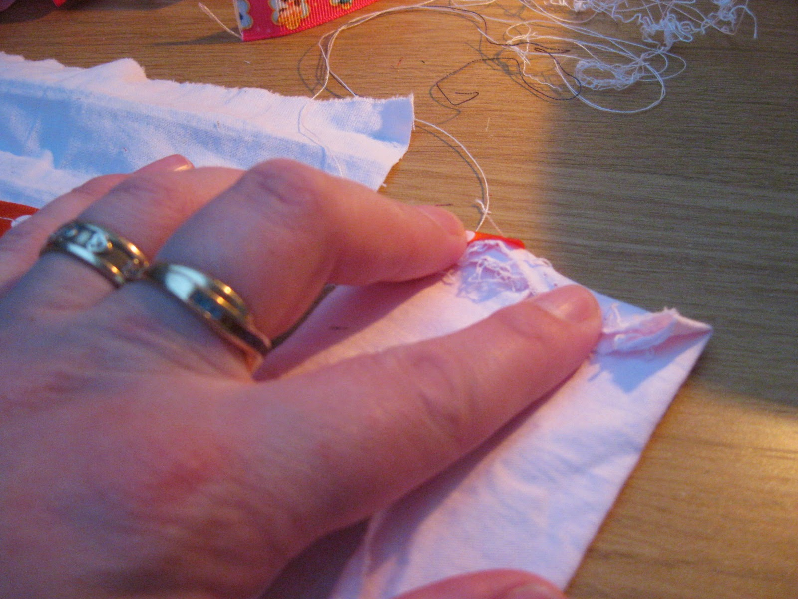 Attaching strap to pillowcase nightdress