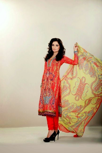 Firdous Chiffon Eid Collection 2014