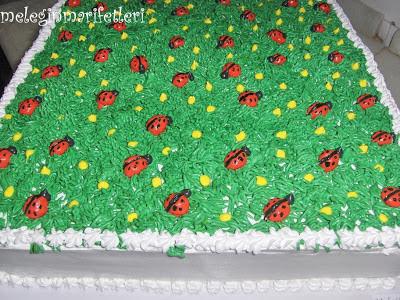 uğur böceği pasta...
