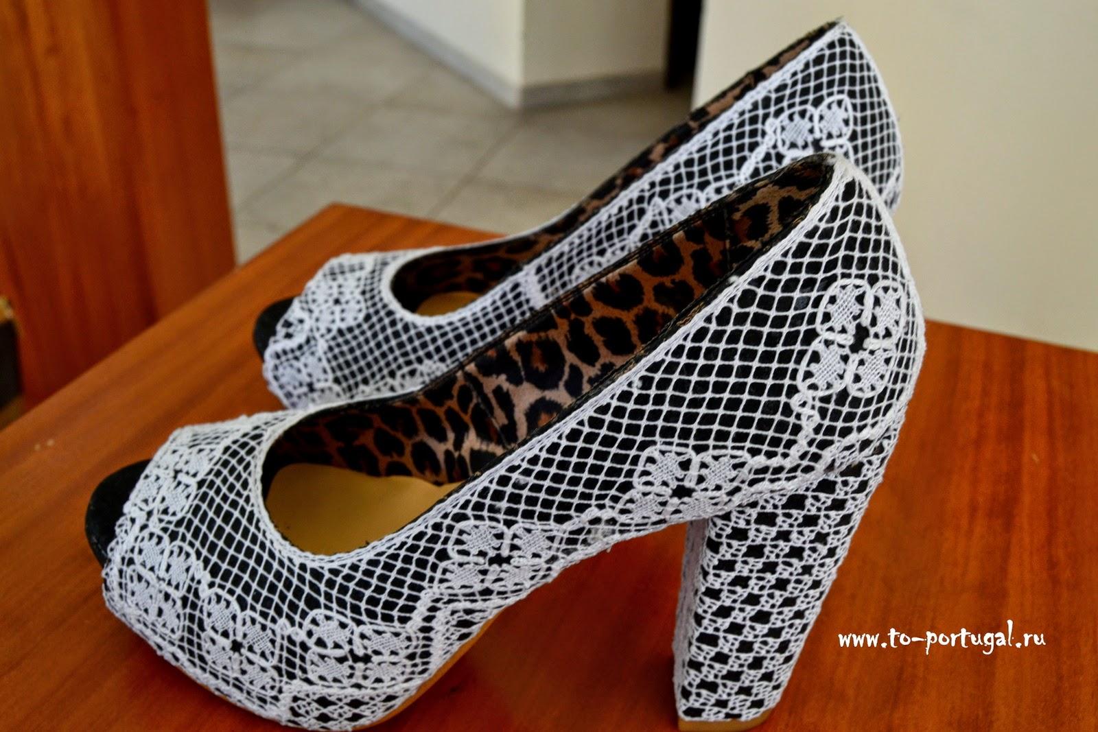 туфли из португальской пробки