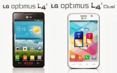 LG Optimus L4 II E440 dan LG Optimus L4 II Dual E440
