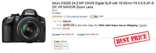 Nikon D3200 Coupon