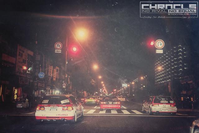 Honda Civic, nielegalne wyścigi uliczne, street racing, 環状族