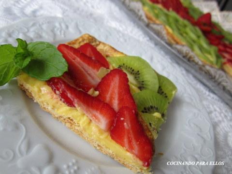 Cocinando para ellos tarta de hojaldre bicolor - Cocinando para ellos ...