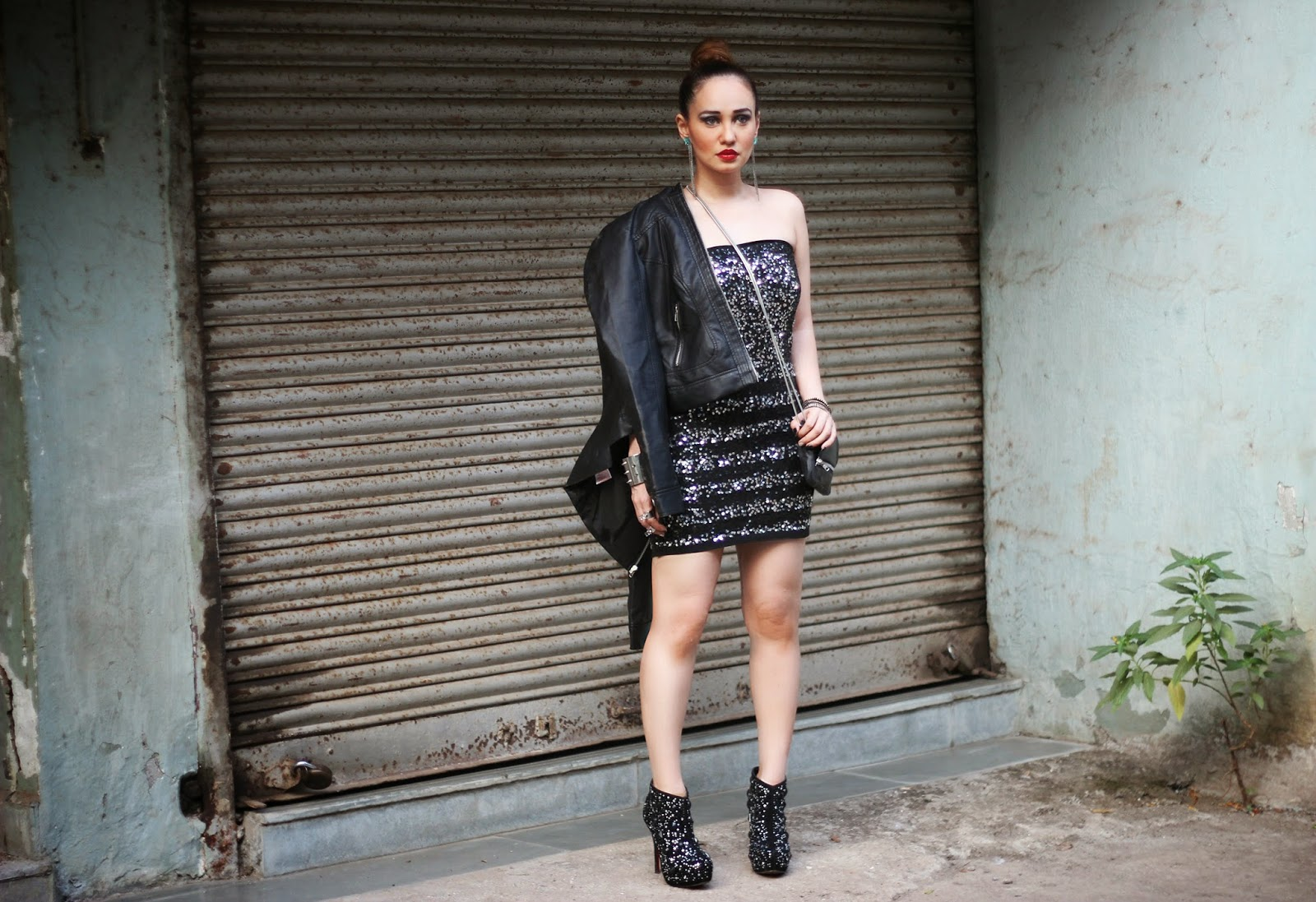 Sequin Dress by Vero Moda Marquee by Karan Johar