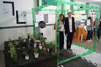 Caracterizados como a autora Clarisse Lispector e o fotógrafo Sebastião Salgado, os alunos Luana Sampaio e Hugo Cardozo