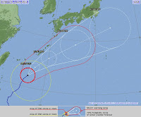 Taifun MAWAR (AMBO): Japan noch in der Gefahrenzone, Japan, Ambo, Mawar, aktuell, Vorhersage Forecast Prognose, Taifun Typhoon, Taifunsaison 2012, Satellitenbild Satellitenbilder, Juni, 2012, Pazifik,