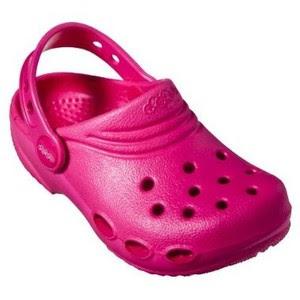 sandal crocs cewek merah