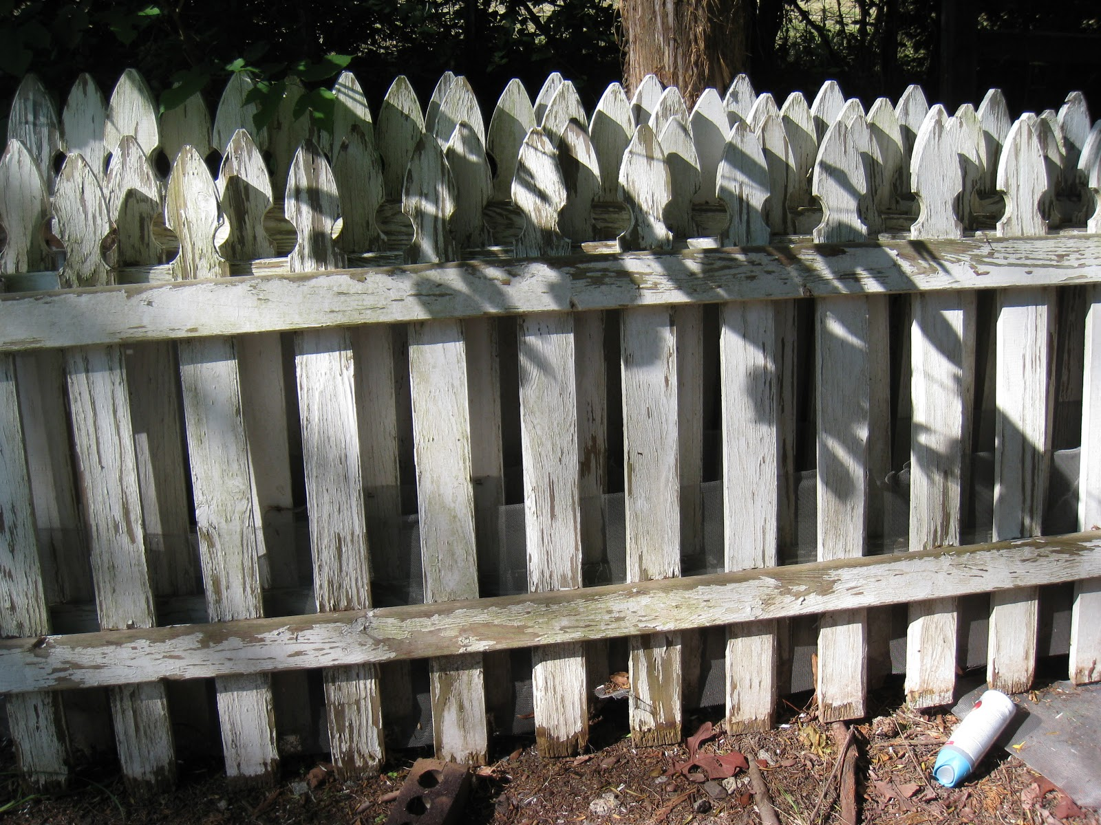 Repurposed for life old glory from an picket fence