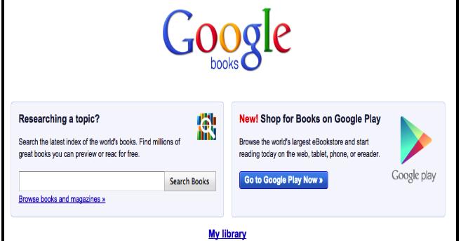 Teachers' Guide to Google Books