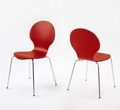 sillas rojas para cafetería