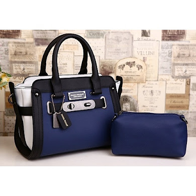 AAA WITH JESSICA MINKOFF LOGO - BLUE