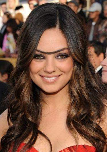 E se as celebridades tivessem monocelha?, imagens, humor,unibrow, monocelha, Mila Kunis, eu adoro morar na internet