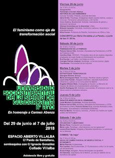 8ª edición de la Universidad Socioambiental de la Sierra. Dedicada enteramente al feminismo