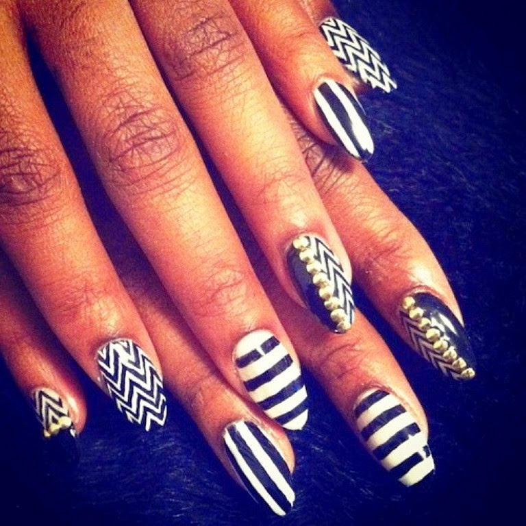 Summer acrylic nail designs black and white nails designs new nail designs nails designs 2014 prinsesfo Image collections