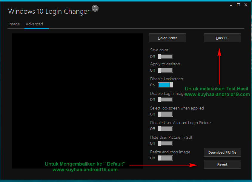 Windows 10 Login Theme Changer