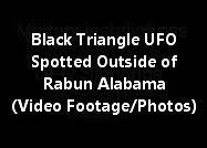 Black Triangle UFO Spotted Outside Of Rabun Alabama (Video Footage/Maps/Photos)