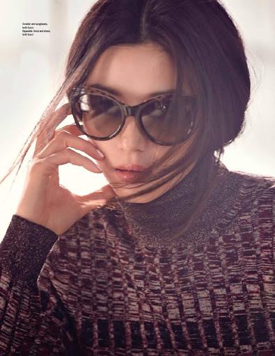 Korean actress my sassy lady Gianna Jun on Elle Malaysia June 2015 photo shoot
