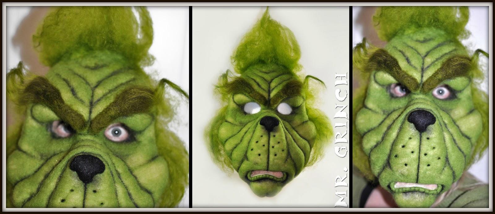 Soulfibre studio merry christmas grinch mask costume theatre grinch mask costume theatre festivals ooak art maxwellsz