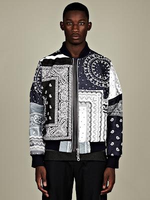 Christopher Shannon Paisley Bomber Jacket
