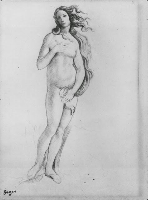 Vénus (d'après Botticelli) Edgar Degas, 1959