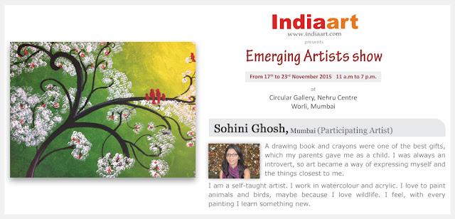 Artist Statement by Sohini Ghosh - Emerging Artists show by Indiaart.com
