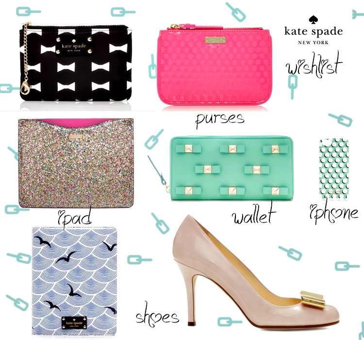 kate spade wishlist