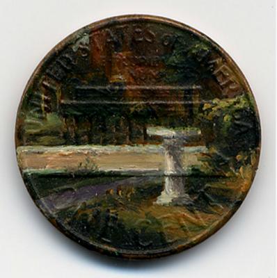 لوحات زيتية دقيقة ومدهشة على العملات المعدنية الصغيرة  Penny-paintings5-550x553