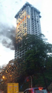 pejabat polis bukit aman terbakar