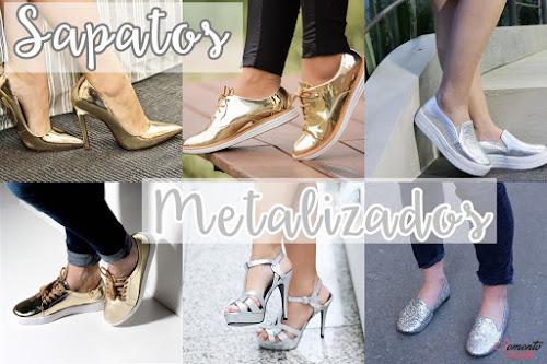 Tendência de Moda - Sapato Metalizado