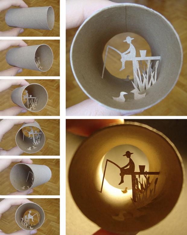 Anastassia Elias, Paper cuts, rollo, papel higienico, arte