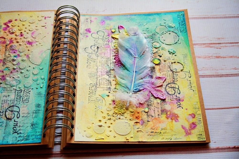 Art Journal Calendar Tutorial : Jamajka follow your dreams art journal