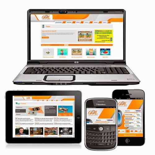Gol aplicativo - Smartphone e Tablets