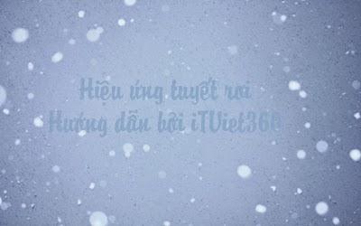 Hiệu ứng tuyết rơi cho Blogspot, Website