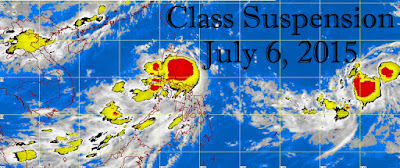 Class Suspension For July 6, 2015