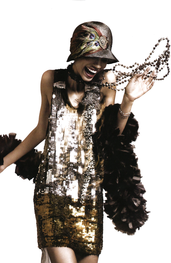 "Chanel Iman by David Sims in ""American experience"" for Vogue US May 2010 via fashioned by love british fashion blog / gift guide & shopping list in gold"